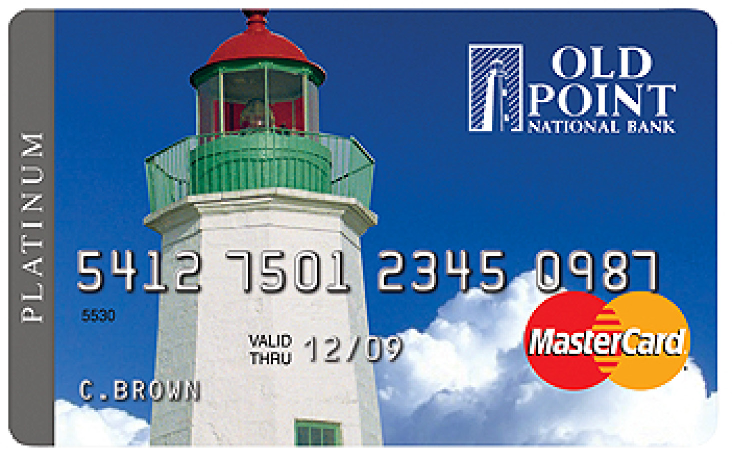 Lighthouse Old Point Credit Card with MasterCard logo